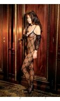 Bow Tie Lace Bodystocking  EM-1604