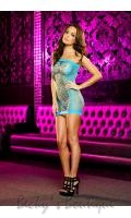 XTC Diamond Net Mini Dress  LD-LC-19-NB